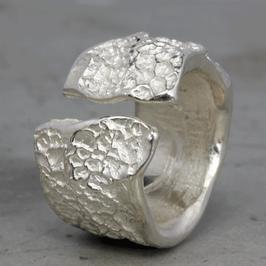 Rustikaler Natur Silber-Ring