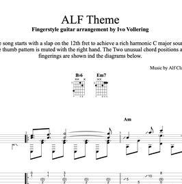 """""""ALF Theme"""" fingerstyle guitar arrangement - transcription"""