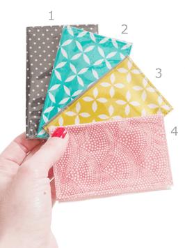 Porte cartes enduits imprimés