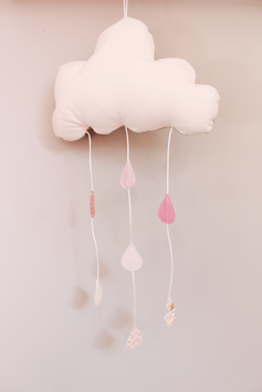 Mobile nuage rose pâle