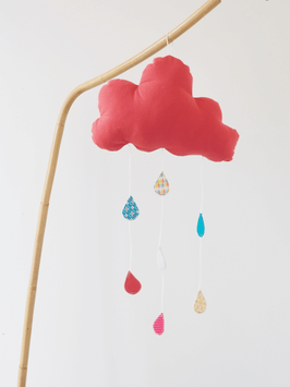 Mobile nuage rouge