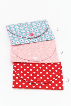 Pochette barrettes en tissu imprimé