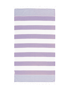 TURKISH TOWEL - Lilac / Navy