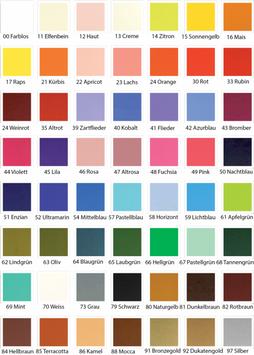 Wachsplatten Uni Wunschfarben einfach bei der Bestellung mitangeben!