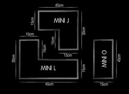 Elemento a giorno Tetris O | J | L
