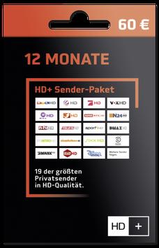 12 Monate HD+ Sender-Paket