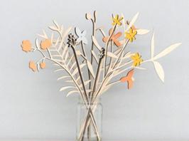 Bouquet de fleurs en bois