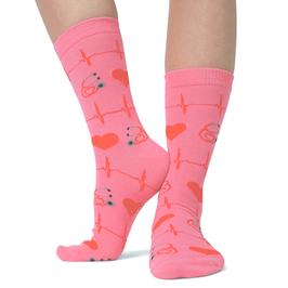 MedSocks valentijn roze
