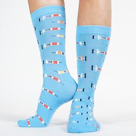 Sokken met medische print, injectie sokken