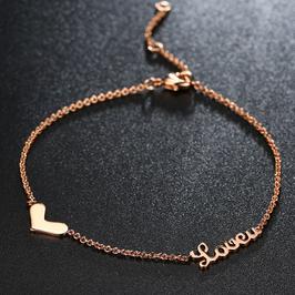 Bracelet Love Plaqué Or Rose (réf : 2018BL)