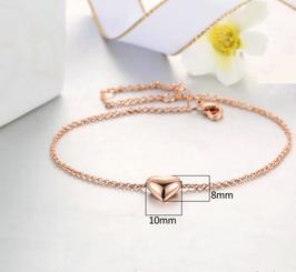 Bracelet Coeur Plaqué Or Rose (réf : 749CH)