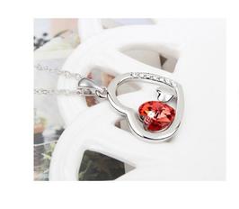 Collier Cloé Cristal Rouge (réf : 2028SW)