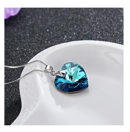 Collier Célia Coeur Cristal Bleu (réf : 2466CC)