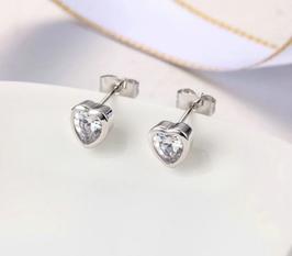 Boucles d'Oreilles Coeur Cristal (réf : XC39)