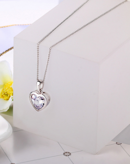 Collier Coeur Forever (réf : 2418CF)