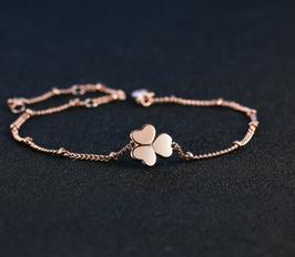Bracelet ou Chaine de Cheville Trèfle (réf : 2074BT)