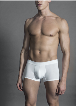 Boxer 4SEASONS Push-up Basic wit & zwart