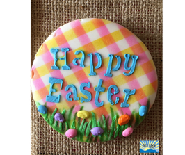 Happy Easter Decorated Sugar Cookie