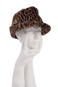 Ocelot Print Fur Hat