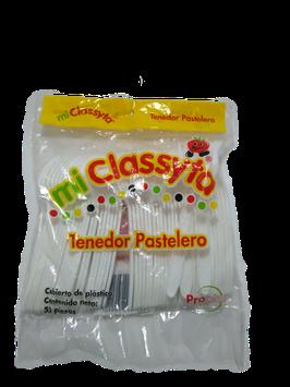 TENEDOR PLASTICO MICLASSYTA PASTELERO