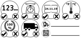 HACCP Wareneingangs- Stempel (Typ 2 Piktogramme)