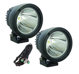 """4.5"""" 25W Cannon Light with Amber Cover Cree LED"""
