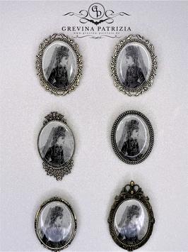 Brosche Lady Ava viktorianisches Motiv
