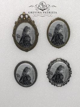 Brosche Lady Marjorie viktorianisches Motiv