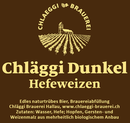 Chläggi Dunkel, Hefeweizen, Chläggi Brauerei Rolf Gnädinger