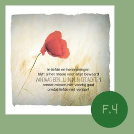 F4. omdat liefde niet verjaart