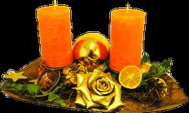 Orange/Gold mit Schale