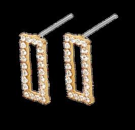 """""""Shimmer Long"""" Ohrstecker vergoldet"""