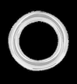 """Infinity Circle Post"" Ohrstecker rhodiniert"