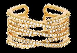 """""""Shimmer Multi"""" Ring vergoldet"""