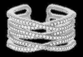 """Shimmer Multi"" Ring versilbert"
