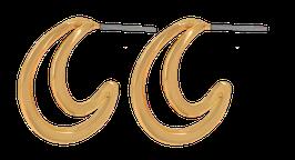 """""""Indian Curve"""" Ohrstecker vergoldet"""