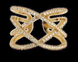 """Shimmer Curve"" Ring vergoldet"