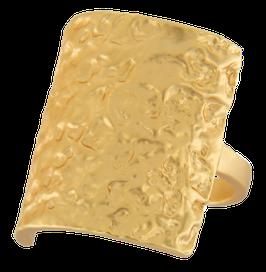 """""""Amber Square"""" Ring vergoldet"""