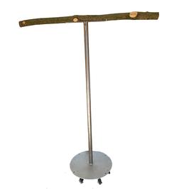 Edelstahl T-Stand - fahrbar und mit Einschlagsicherung für den Außeneinsatz