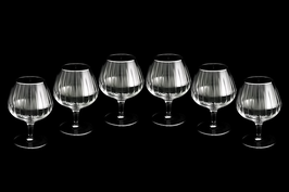 Набор хрустальных бокалов для бренди Same  ПИЗА ПЛАТИНА 275 мл