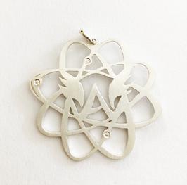 Energiespirale-Anhänger mit Diamant