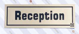 KUNSTSTOFFSCHILD Reception Metalloptik gold