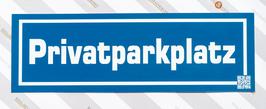 KUNSTSTOFFSCHILD Privatparkplatz