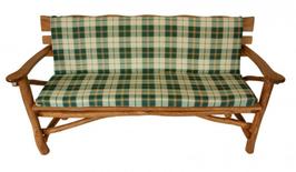Universal Auflage für 2-Sitzer Gartenbank in grün/beige kariert  140 x 88 cm