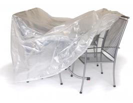 Abdeckhaube für Garnitur oval transparent 300 x 200 x 90cm