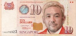 自分の顔でお札シリーズ4  昔の紙幣 シンガポールドル紙幣