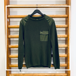 Lee Fisherman Patch Knit Olive Green