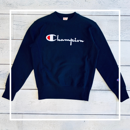 Champion Big Logo Sweater Black