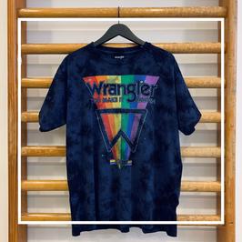 Wrangler Oversized Tee Navy Tie Dye