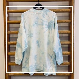 Wrangler Oversized Sweat Blue Tie Dye